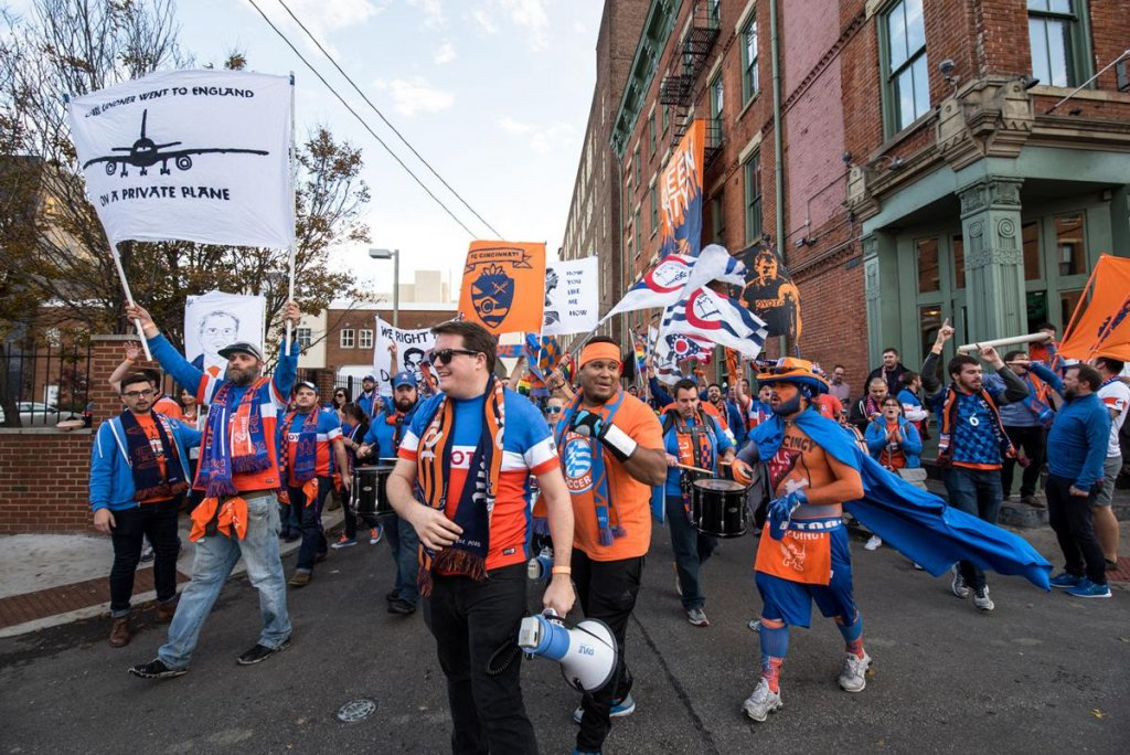 fc cincinnati to the mls - great soccer fans