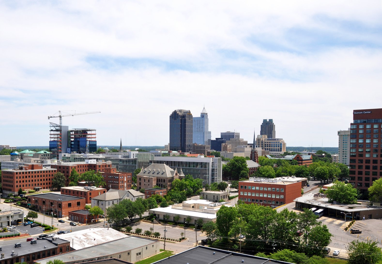 downtown Raleigh skyline on the sell your house fast in North Carolina page