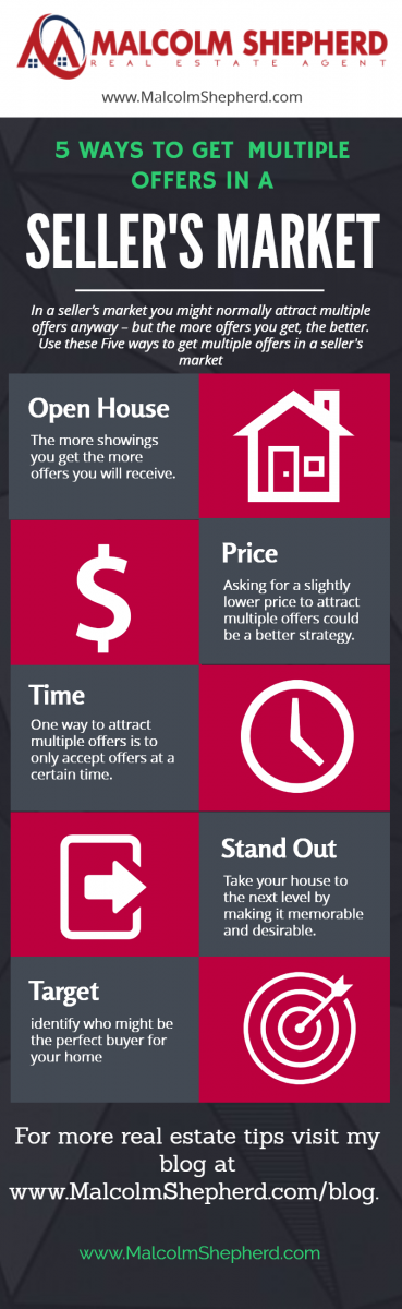 Infographic- Five ways to get multiple offers in a seller's market