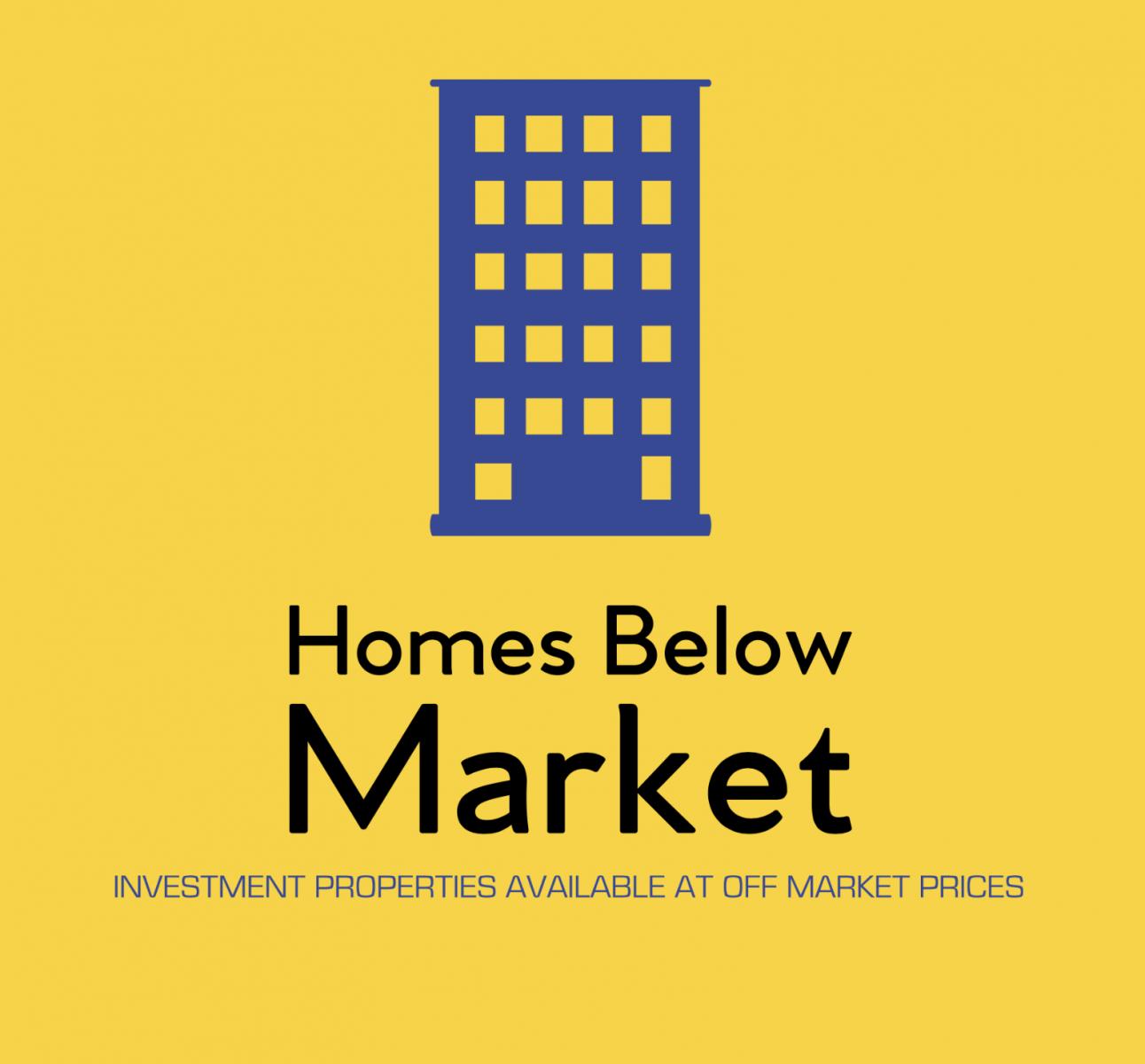 Homes Below Market logo