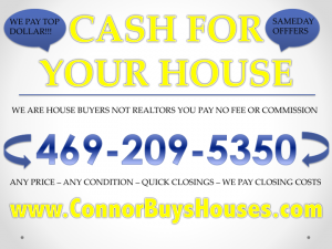 SELL MY HOUSE FAST DALLAS FORT WORTH - WE BUY HOUSES DALLAS FORT WORTH
