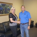 Steve Labus & Eileen Trudo at Closing.  Sell Your House Fast.  Call Elvis Buys Houses Today  877-703-5847