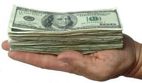 handful of money