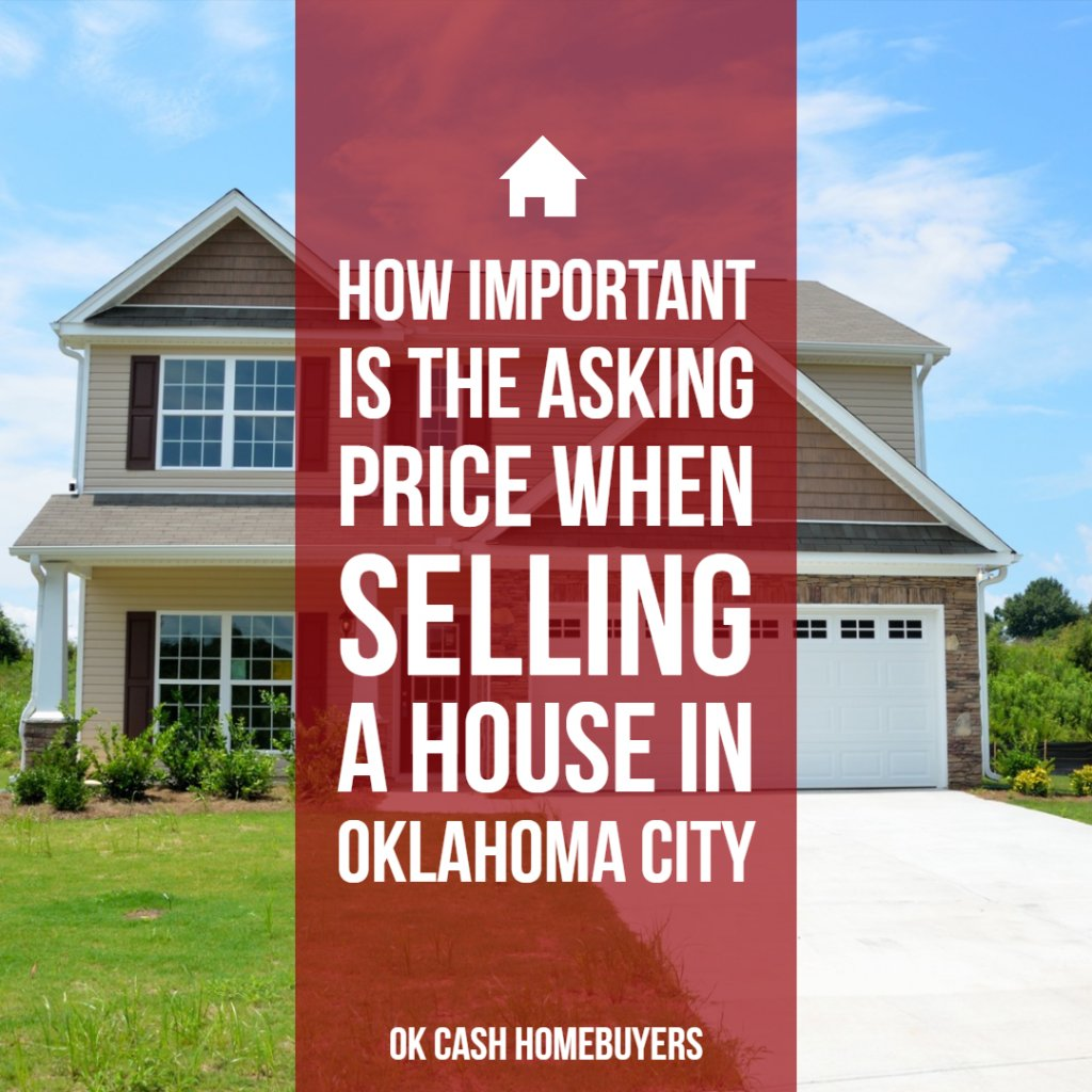 how important is the asking price when selling a house