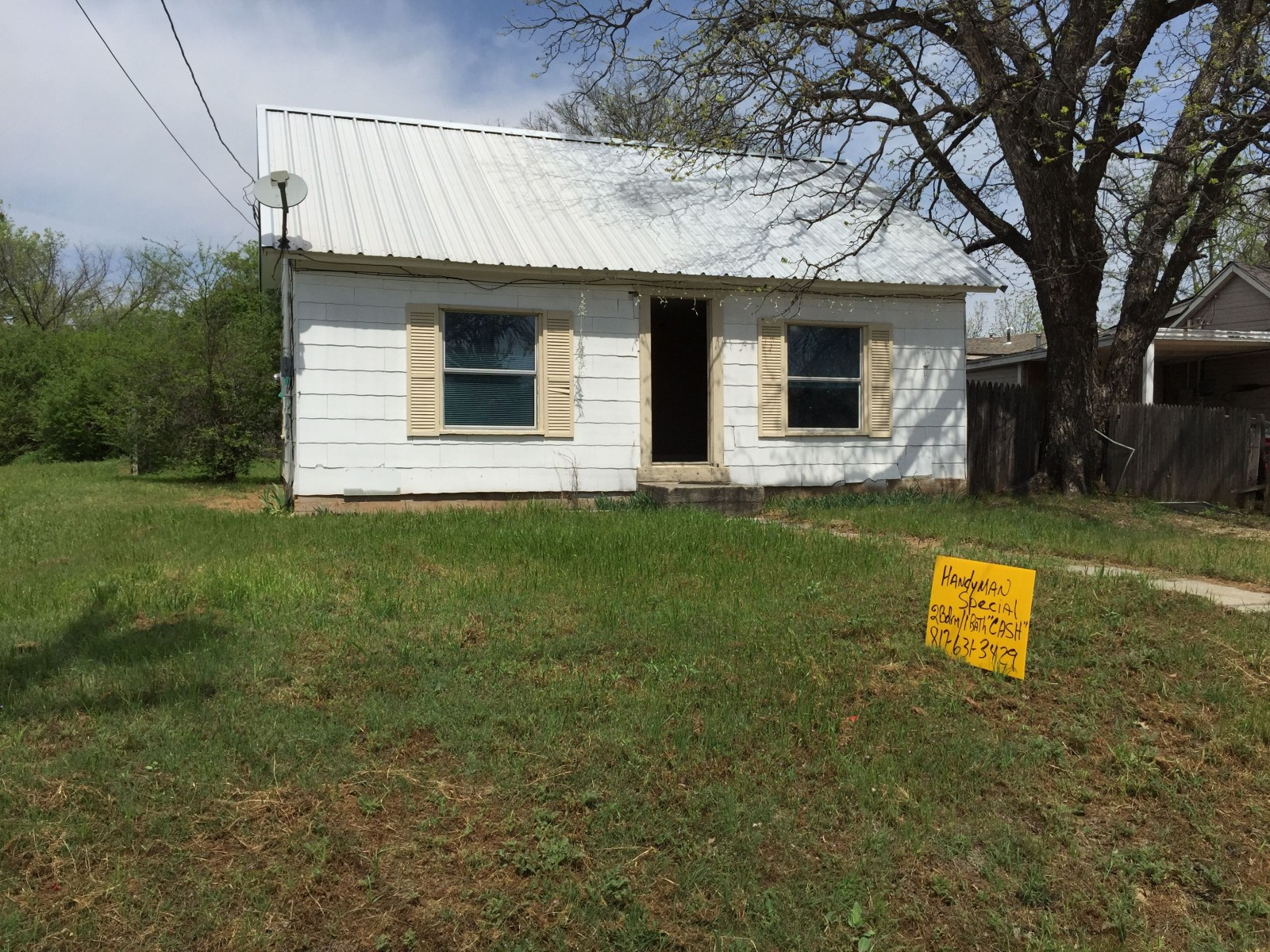 landlord special, weatherford investment property, fixer upper, handyman special