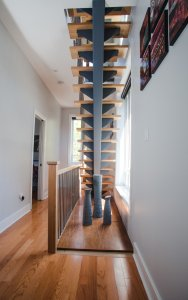 Modern/open staircases