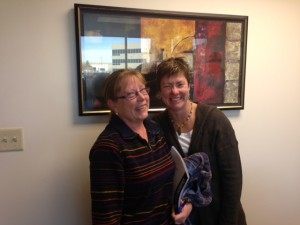 P Lietner at the closing of her home after 3 years rent to own.