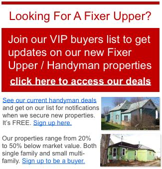Memphis Tn fixer upper properties for sale