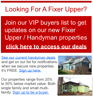 Kalamazoo Michigan fixer upper properties for sale