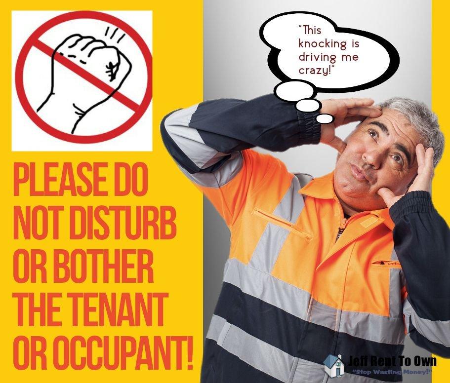 do not disturb the occupants