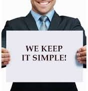 We keep it simple sign and guy