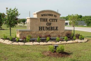 city of humble sign