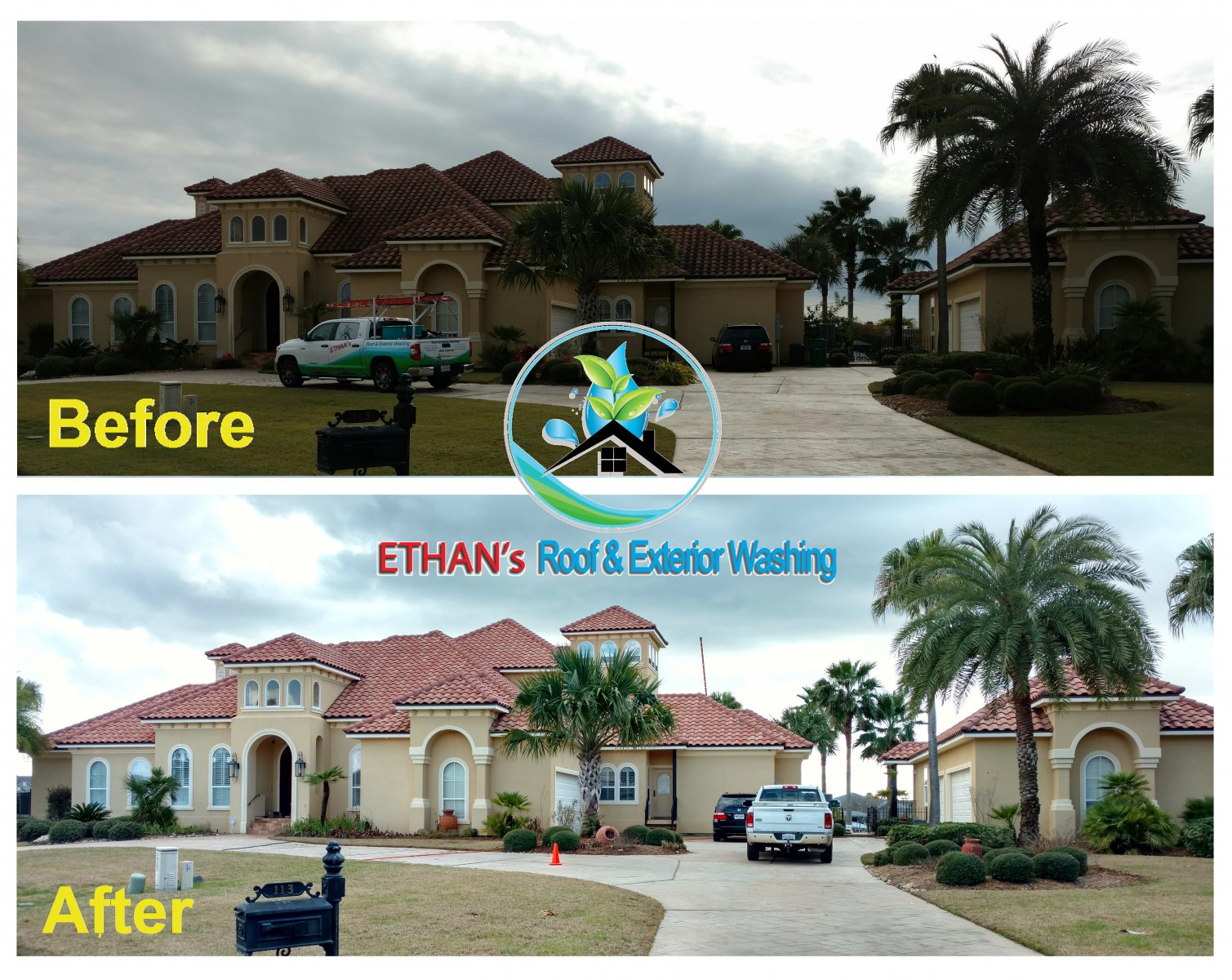 ... Roof And Exterior Washing Inc. Makes Your Home Look Brand New Again  With A Full Line Of Power Pressure Washing And Soft Non Pressure Washing  Services.