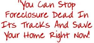 you can stop foreclosure
