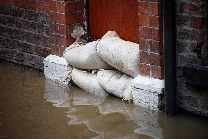 sand bags used to prevent flooding charleston
