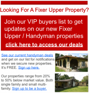 Wholesale Houses Florida Buyers List