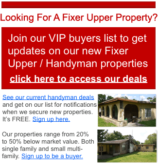 Palm Beach County Florida fixer upper properties for sale