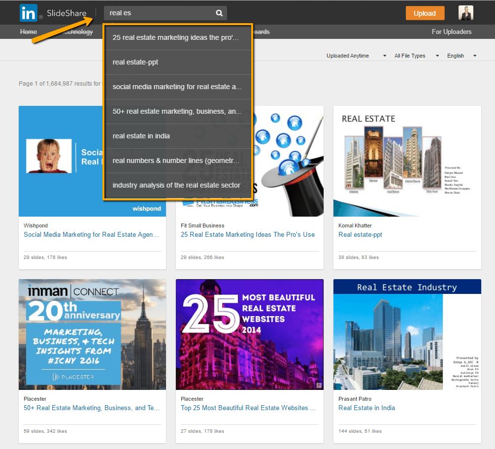 real estate content marketing SlideShare