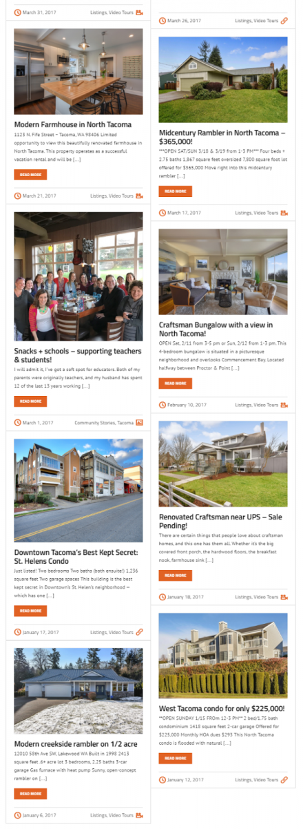 real estate blogging - house listings