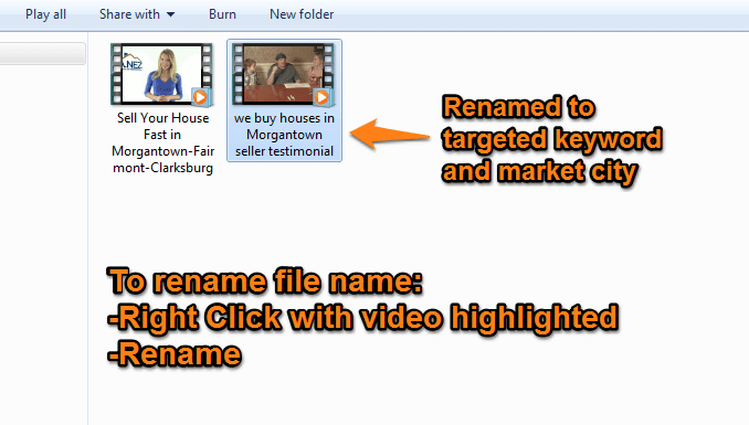YouTube video marketing filename